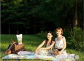 野餐墊防潮墊春游墊子加厚野炊戶外地墊草坪露營野餐布便攜ins風 米蘭潮鞋館