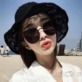 透氣棉麻漁夫帽子女夏天韓版百搭日系太陽防曬沙灘帽可摺疊遮陽帽 小時光生活館
