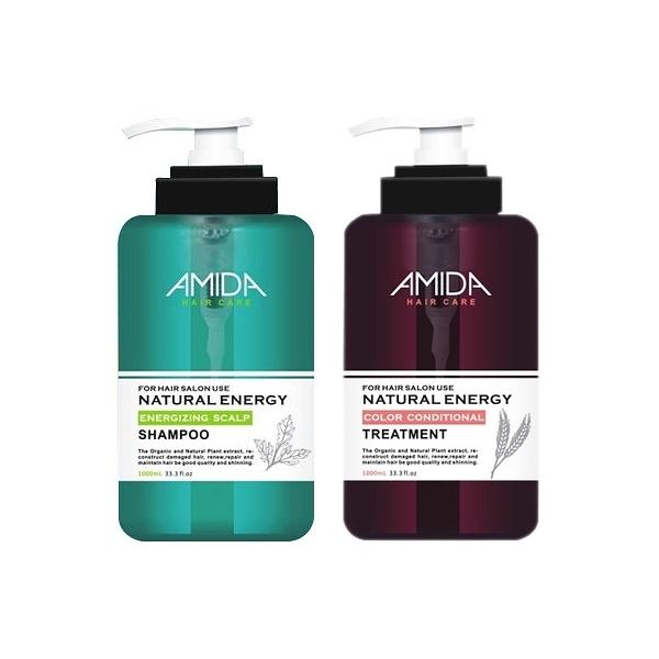 Amida 蜜拉 平衡去脂洗髮精1000ml+角質蛋白護髮素250ml【小三美日】組合價