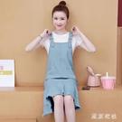 牛仔背帶裙子 女夏裝2020新款學院風韓版中長款連身裙 JX885『東京衣社』