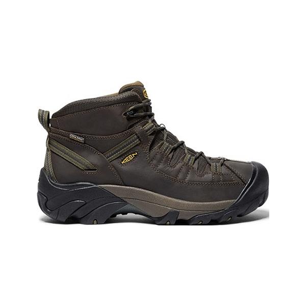 [KEEN] 男 TARGHEE II MID WP 登山健行鞋 深咖啡/橄欖綠 (173-1017346)