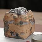 復古棉麻品茗杯茶壺小茶杯袋