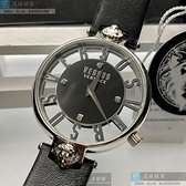VERSUS VERSACE凡賽斯女錶36mm銀色錶面深黑色錶帶