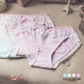 內褲 緞帶小花蕾絲滾邊水鑽內褲-Ruby s 露比午茶