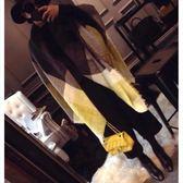 📢現貨供應📢韓版黃灰拼色條紋仿羊絨大方巾原單圍巾秋冬防風披肩