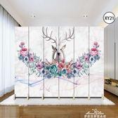 歐式屏風隔斷客廳裝飾墻現代簡約移動折疊臥室雙面布藝房間小戶型『夢娜麗莎精品館』YYJ