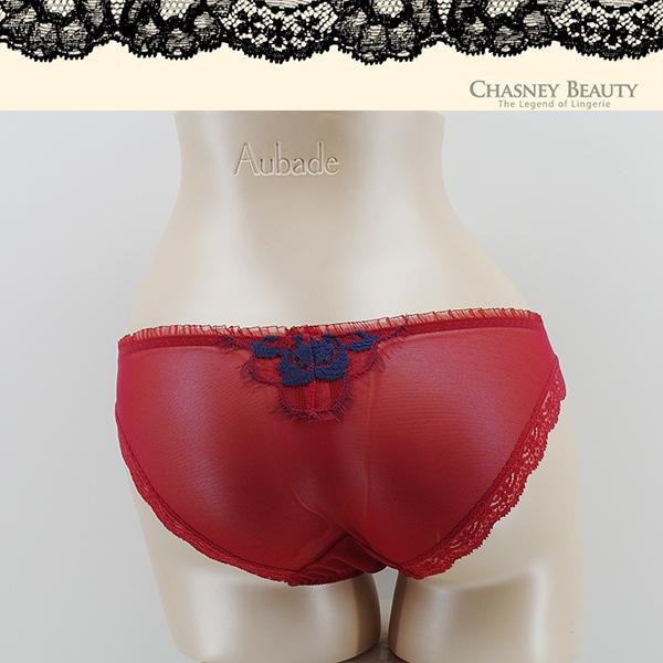 Chasney Beauty-鬱金香低脊心B-D蕾絲內衣(紅藍)