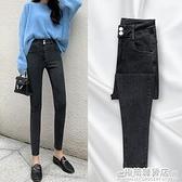 牛仔褲女夏季薄款年新款秋季高腰修身顯瘦春秋裝緊身九分小腳 完美居家