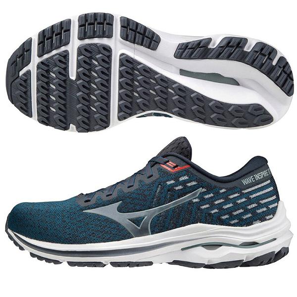 MIZUNO WAVE INSPIRE 17 WAVEKNIT 男鞋 慢跑 4E超寬楦 ENERZY中底 藍【運動世界】J1GC212260