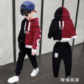 中大尺碼童裝套裝2018新款洋氣男孩兒童寶寶帥氣大童韓版潮衣zzy5461『時尚玩家』
