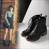 丁果、大尺碼女鞋34-43►翼紋雕花中跟短靴*3色