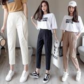 棉麻褲夏季新款韓版學生矮個子休閒薄款冰絲亞麻女褲九分哈倫褲子 艾瑞斯居家生活