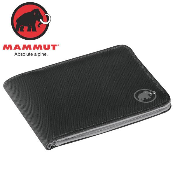 Mammut長毛象 2520-00700-0001黑 多功能雙折短夾/錢包 Flap Wallet 經典皮夾/零錢夾/證件夾