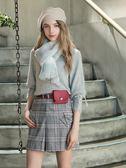 秋冬單一價[H2O]含兔毛20%V領復古大泡袖甜美風袖口綁帶設計針織毛衣 - 白/灰/淺藍色 #8630005