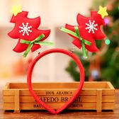 【BlueCat】紅綠星星雪花聖誕樹彈簧兒童髮箍