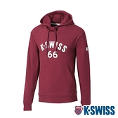 K-SWISS KS 66 Hoodie連帽上衣-女-酒紅