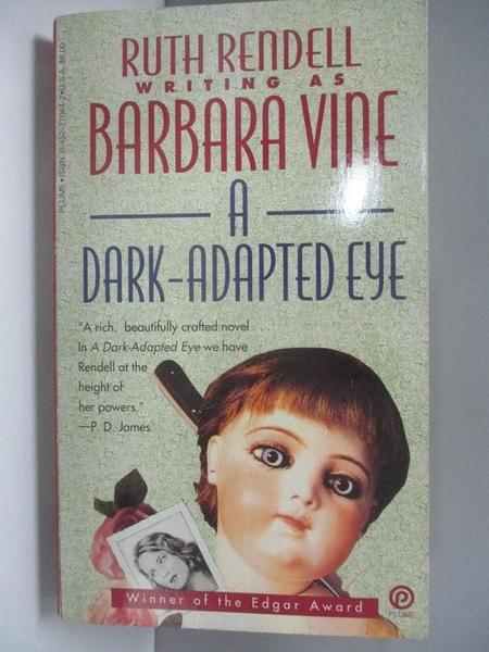 【書寶二手書T9/原文小說_AH8】A Dark-Adapted Eye_Vine, Barbara
