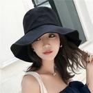 漁夫帽  遮陽帽夏韓版百搭可折疊太陽帽日繫大檐防曬帽