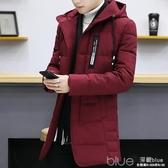 冬季棉衣男士修身中長款襖子青年加厚冬裝潮流羽絨棉服外套男快速出貨
