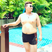 泳褲平角溫泉超大碼寬鬆舒適加肥加大碼游泳衣男士特大碼沙灘褲 愛麗絲精品