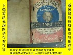 二手書博民逛書店CULBERTSON S罕見QWN SUMMARY 1950Y1