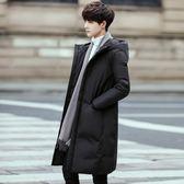 羽絨外套 羽絨服男中長款2018新款加厚青年學生修身韓版冬裝外套潮 雙11免運搶鮮購