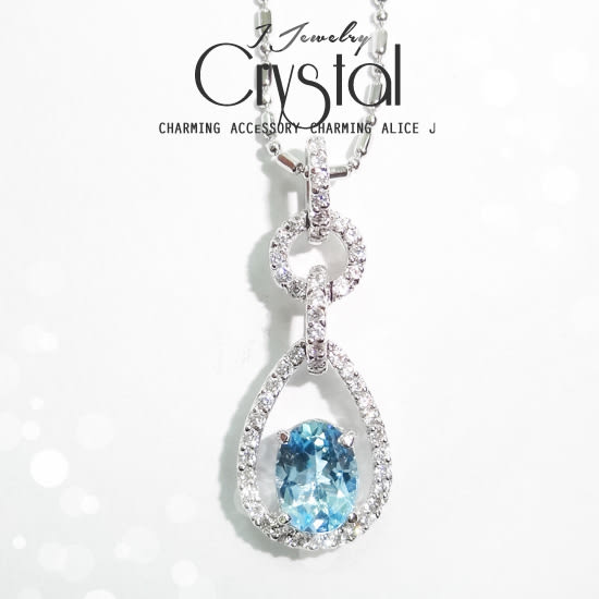水之戀  優雅小拓帕石天然水晶手作項鍊
