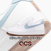 Nike 休閒鞋 Air Force 1 07 LV8 白 藍 植物刺繡 男鞋 運動鞋 【ACS】 CZ0338-100