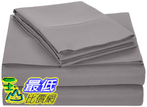 [8美國直購] AmazonBasics 床單 Microfiber Bed Sheet Set - King, Dark Grey