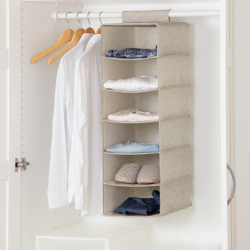 【大六格收納掛袋】衣物掛袋 衣櫃收納袋 置物袋 衣櫥掛袋 S3983 [百貨通]