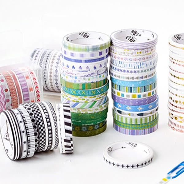 【BlueCat】糖詩基礎邊框顏色系列和紙膠帶 (10入裝)