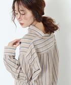 寬版襯衫 直條紋上衣 雙層紗 日本品牌【coen】