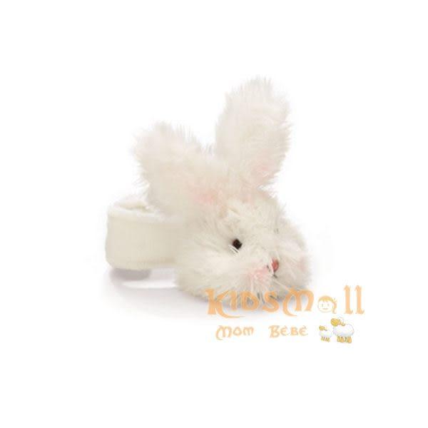 美國Bunnies By The Bay海灣兔,小兔手腕搖鈴(10CM),Bunny Rattle-White