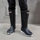 雨鞋雨鞋男士春秋水靴時尚高筒防水鞋冬季防滑耐磨兩用戶外潮雨靴膠鞋 雲朵走走