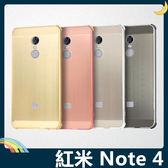 Xiaomi 小米 紅米機 Note 4X/4 電鍍邊框+PC髮絲紋背板 金屬拉絲質感 組合款 保護套 手機套 手機殼