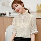 夏季蕾絲衫女裝夏裝2020年新款潮流短袖雪紡襯衫氣質甜美上衣洋氣 【Ifashion·全店免運】