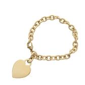 Tiffany & Co 蒂芬妮 18k金愛心墜飾手環 Herat Tag Bracelet 【BRAND OFF】
