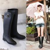 顯瘦韓國高筒雨鞋女成人時尚水鞋長筒雨靴防滑膠鞋套鞋馬靴水靴   初見居家