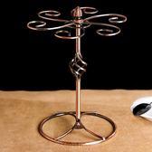 紅酒架收納架歐式復古紅酒杯架擺件∣家用可拆裝酒架倒掛高腳杯架子創意掛6只 igo免運