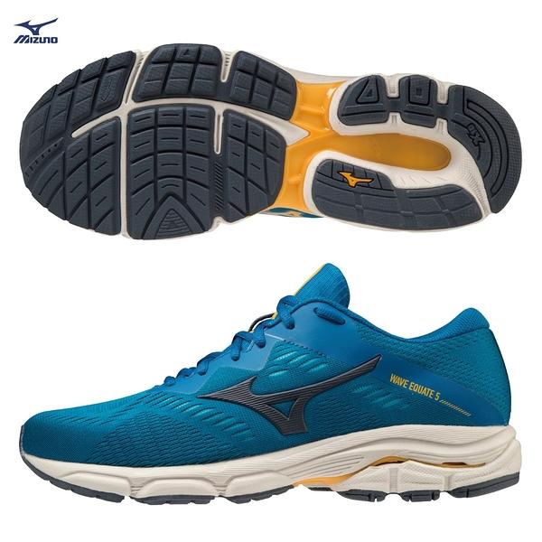 MIZUNO WAVE EQUATE 5 男鞋 慢跑 路跑 支撐 耐磨 藍【運動世界】J1GC214830