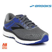 【BROOKS】男款支撐型慢跑鞋 Adrenaline GTS18系列 超寬楦 4E  - 沉默灰(714E015)全方位跑步概念館