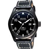 epos Passion飛行員戰鬥機機械腕錶-黑 3401.132.25.35.24