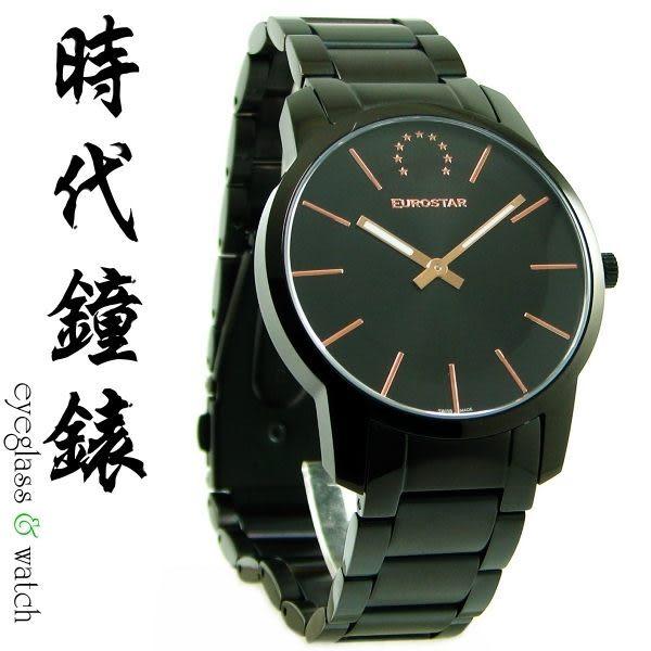 【台南 時代鐘錶 EuroStar】歐星 簡約時尚情人對錶 男款 EU-1212AG2 輕鬆擁有瑞士錶
