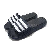 adidas 拖鞋 Duramo SL Slides 藍 白 三條線 魔鬼氈 運動拖鞋 男鞋 涼拖鞋 【ACS】 FY6034
