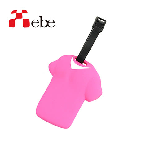 Xebe集比 出國旅行 T恤造型文創設計 行李吊牌(粉紅)