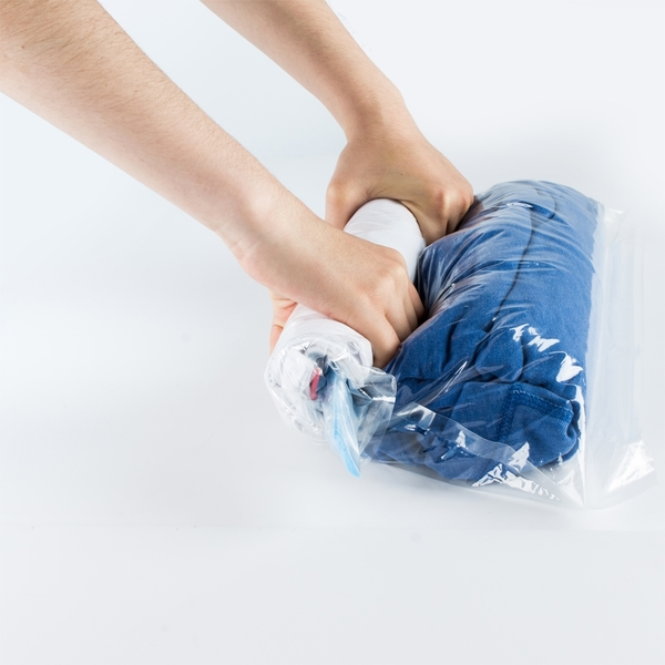 樂嫚妮 手捲式真空壓縮袋50X35cm 出國旅遊 防塵 換季衣物收納