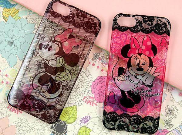 韓國迪斯尼米奇米妮iphone5S手機殼蘋果5蕾絲米老鼠單殼-harry70307556