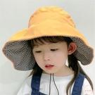 兒童遮陽帽 兒童空頂帽子女童夏季防曬遮陽帽親子小黃帽大檐沙灘帽出游太陽帽【七夕節鉅惠】