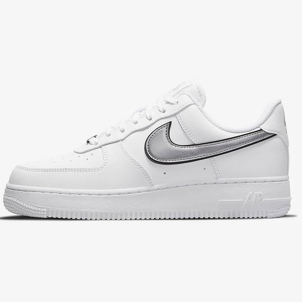 Nike Air Force 1 '07 ESS 女鞋 休閒 皮革 白 銀【運動世界】DD1523-100