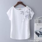 2020年新款夏裝白色大碼純棉t恤女短袖寬鬆半袖體桖中年媽媽上衣 樂活生活館